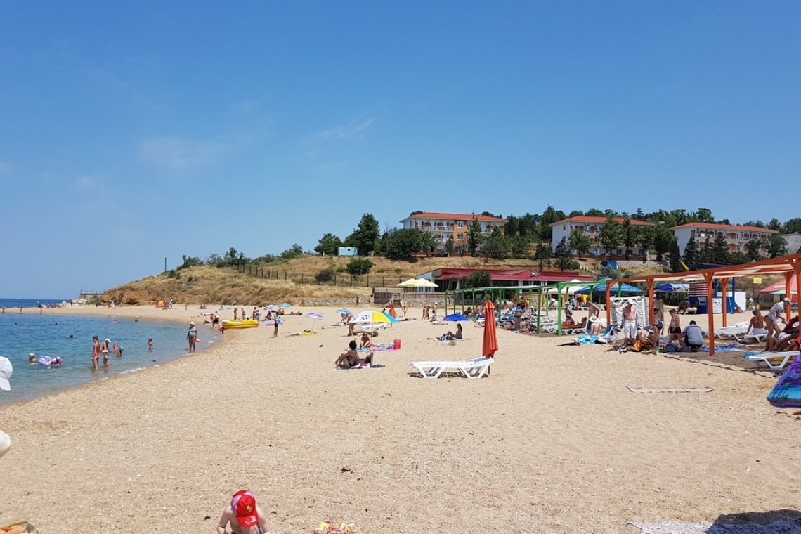 Пляж гостевого дома Корсунь